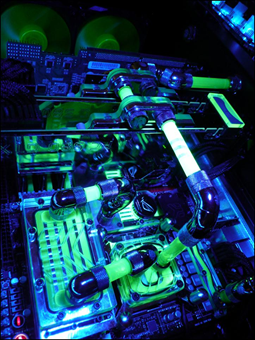 The cooling system and lighting