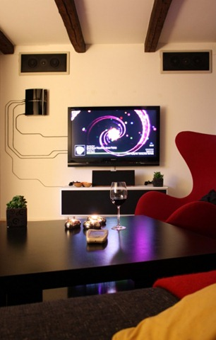 What to do with entertainment system wires
