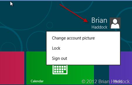 Windows 8 logout screen